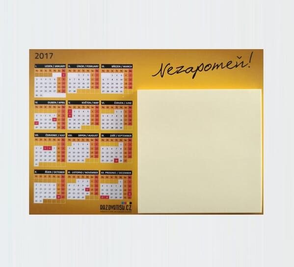 Magnetický kalendář s blokem